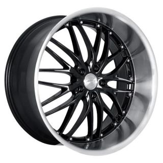 20 MRR GT1 Black Rims Wheels 20x8 5 32 5x112 Audi S4