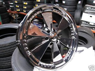 23 inch Black Chrome Rims Tires Navigator F 150