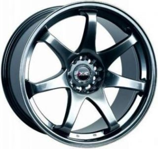17 XXR 522 Chromium Black Rims Wheels 17x9 42 5x100