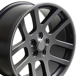22 Rims Fit Dodge SRT Wheels Gunmetal 22x10 Set