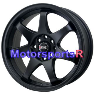 15 15x7 XXR 522 Flat Black Concave Rims Wheels 4x100 02 Honda Civic SI