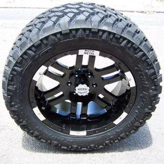 20 Black Moto Metal 951 Wheels Rim 33 Nitto Trail Grappler Tires