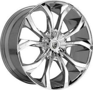 32 Lexani Lust Chrome Wheel Tire Package Rims Chevy GMC Escalade