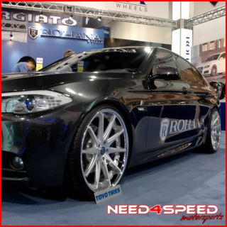 E60 M5 Rohana RC10 Deep Concave Silver Staggered Wheels Rims