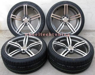19 BMW M6 Style Staggered Wheels and Tires for 325i 328i 330i 335i Z3