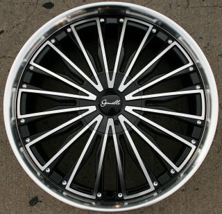 TRENTINO L2 22 BLACK RIMS WHEELS LINCOLN LS 00 07 / 22 X 9.0 5H +38