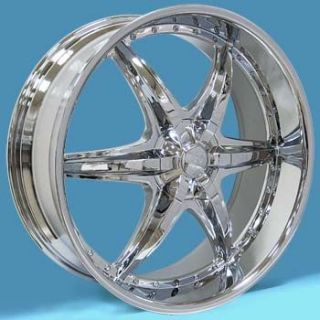 Dub Wheel Set Chrome GMC Rims Tahoe Yukon Escalade Wheels
