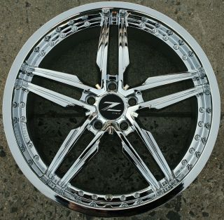 Zinik Z30 20 Chrome Rims Wheels Ford Fusion 06 Up 20 x 8 0 5H 40