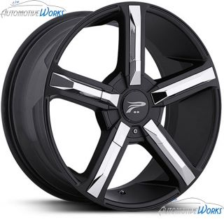 Platinum 499 Dynasty 6x132 6x127 6x5 40mm Black Wheels Rims Inch 18
