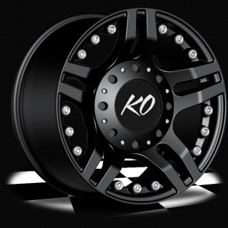 20 Black Rev Guillotine Wheels Ford Truck F 250 F 350 Excursion 8 Lug