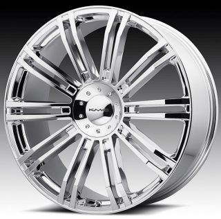 24 inch KMC Chrome Wheels Rims 5x4 5 5x114 3 I30 G35 G37 I35 M35 M45