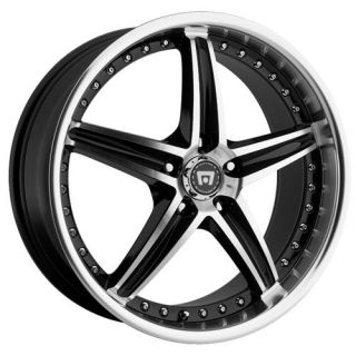 20 inch Motegi Racing MR107 Black Wheels Rims 5x110 42