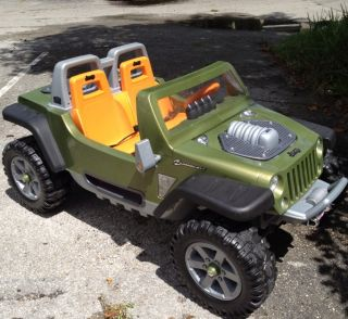 Power Wheels Fisher Price Monster Traction Jeep Hurricane Green Car