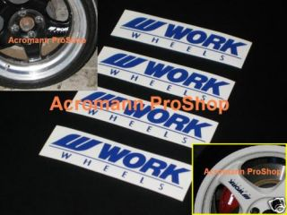 4X 4 5inch 11 43cm Work Wheels Spoke Decal Sticker Alloy Rim Meister