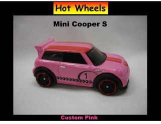 Hot Wheels Custom Pink Mini Cooper s Awesome Car