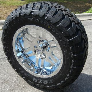 20 CHROME MOTO METAL 951 WHEELS 33 TOYO MT TIRES FORD F150 EXPEDITION