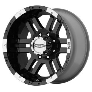 METAL MO951 MO9516860300 16X8 0MM OFFSET 6X5 5 G BLACK MACH SINGLE RIM