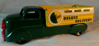 Marx Deluxe Delivery Truck Good Condition 11 with Metal Wheels