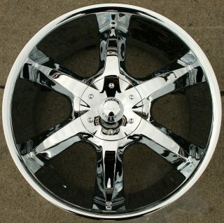 Akuza Lacuna 760 22 Chrome Rims Wheels Charger Hemi 5 7L 22 x 9 5 5H