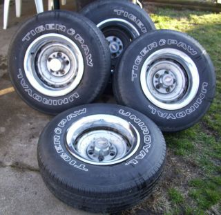 Chevy Truck Rally Wheels and Tires 15 x 8 and 5 Lug