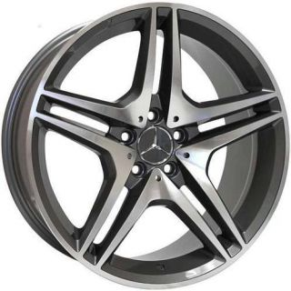 19 Wheels For Mercedes SL 500 55 600 CLS500 550 AMG Style Rims & Lugs