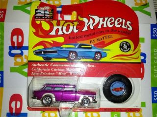 HOT WHEELS CLASSIC NOMAD REDLINE 25TH SERIES ALIVE 55 CHEVY LIMITED