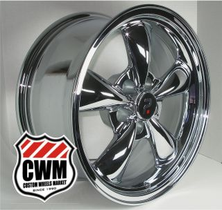 Bullitt Style Chrome Aluminum Wheels Rims 5x4 50 for Ford Mustang 1966
