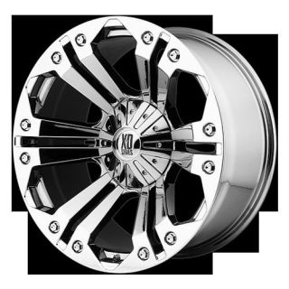 Monster Chrome Rims Tires Nitto Terra Grappler 325x65x18 Wheels