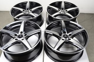 Effect Rims Black Mercedes Benz Audi A4 A6 Passat Jetta Rabbit Wheels