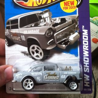 2013 Hot Wheels Chevy Bel Air 55 Gasser Custom Super Treasure Hunt