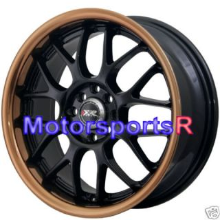 17 7 XXR 006 Black Copper Lip Rims Wheels 4x114 3 91 96 Honda Prelude