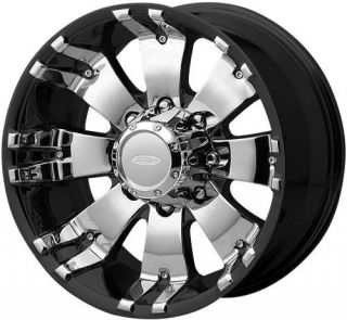 20 inch DIAMO 8 Karat Black Wheels Rims 8x170 10 Ford F250 F350