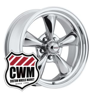 Polished Aluminum Wheels Rims 5x4 75 for Chevy Nomad 55 61
