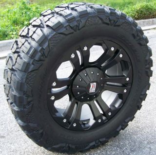 20 BLACK XD MONSTER WHEELS & NITTO MUD GRAPPLER CHEVY GMC SIERRA 1500