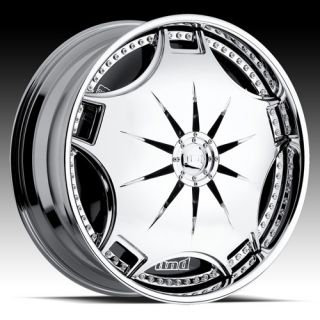 22 DUB Ganja Chrome Wheels Rims Tahoe Sierra GMC Escalade Titan Armada