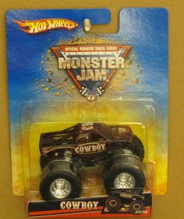 Hot Wheels Monster Jam Cowboy Older Card 1 64 Scale