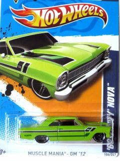 2012 Hot Wheels Muscle Mania 66 Chevy Nova  Exclusive