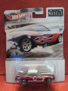 Hot Wheels Racing 2012 MUSCLE 69 Ford Mustang Boss 302 MOC 164 scale