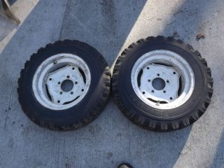 IH Cub Cadet Original Rear Rims and Tires 1961 62 63