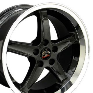 18 Black Cobra R Style Wheels Rims Fit 1999 2000 Mustang®