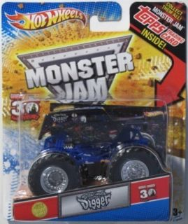 HOT WHEELS Monster Jam Son uva Digger 1 64 scale w TOPPS Trading Card