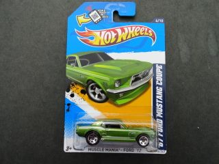 Hot Wheels 2012 Muscle Mania Ford Wal Mart Exclusive 67 Mustang Coupe