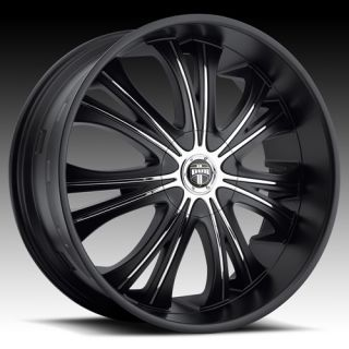 Mamba 26x9 5 Wheel SET Matte Black 26inch RIMS 5 LUG 6 LUG VEHICLES