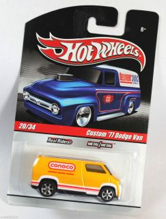 Hot Wheels Delivery Series Custom 1977 77 Dodge A100 Van Conoco Yellow