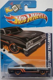 2012 Hot Wheels 69 Ford Torino Talladega Col 111 Black Version