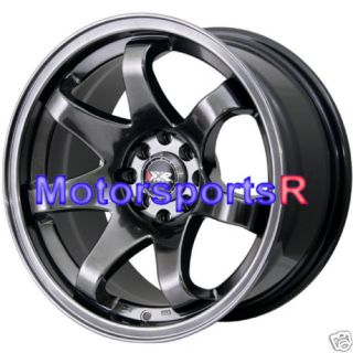 Chromium Black Concave Rims Wheels 71 79 Datsun 240Z 280z 280ZX
