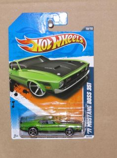 Hot Wheels 1971 71 Green Ford Mustang Boss 351