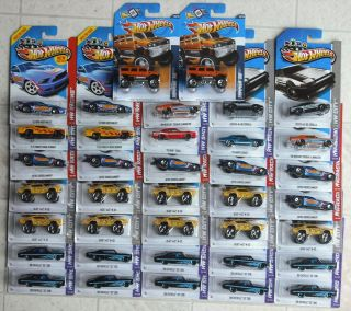 2012 2013 Hot Wheels Showroom Racing City Works Lot of 37
