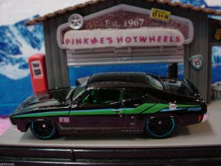 2013 Hot Wheels 73 FORD FALCON XB 1973 New BLACK w green HW Showroom