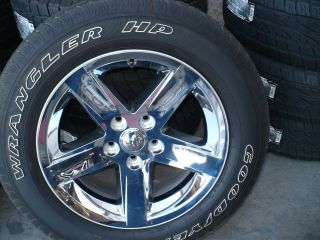 DODGE RAM 1500   4   TIRES AND WHEELS   20 INCH    5 LUG  CHROME
